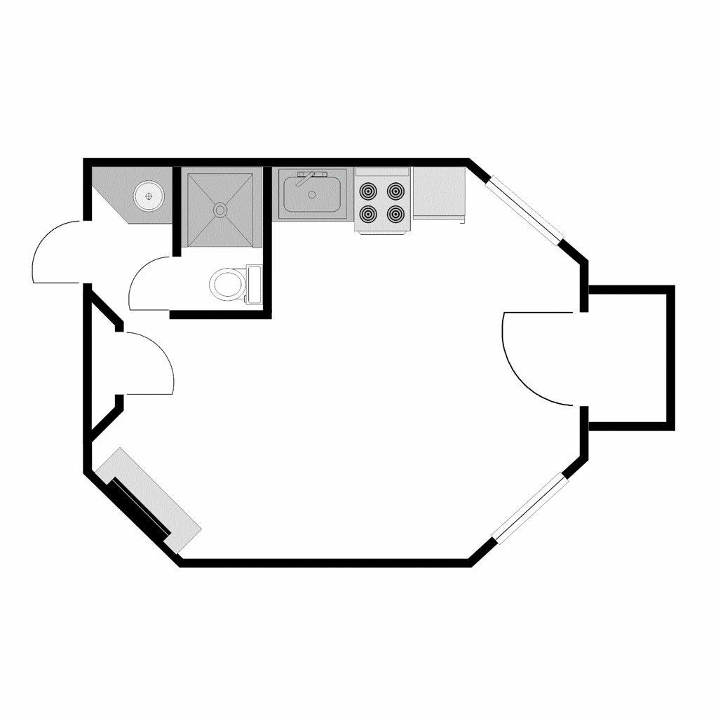 Blank Studio Floor Plan