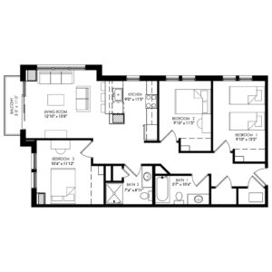 Three Bedroom - Style A