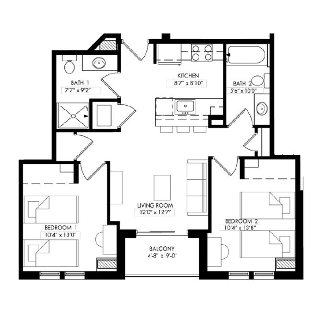 Two Bedroom - Style C