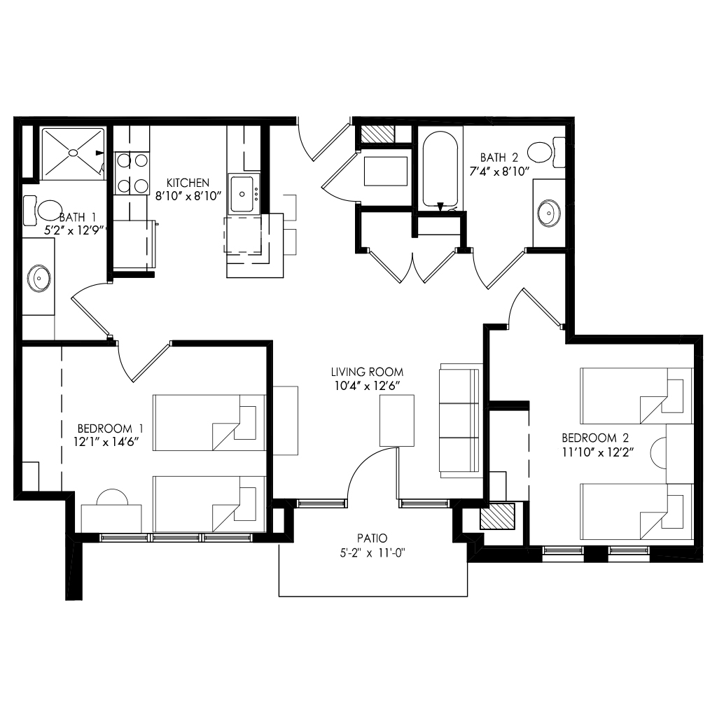 Two Bedroom - Style D1