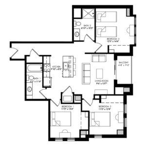 Three Bedroom - Style E