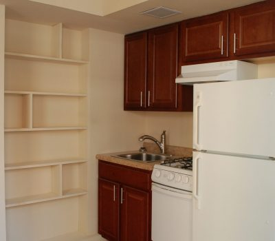 Kitchen with In Wall Shelf Space
