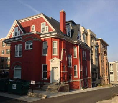 Red Housing Building for Apartments