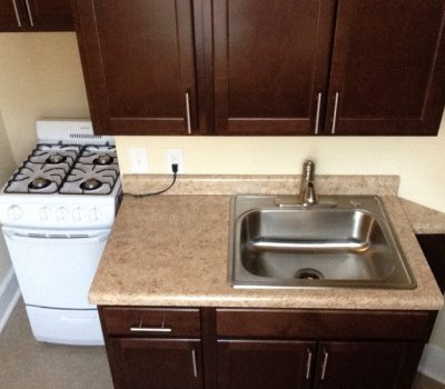 Kitchen with Sink and Small Stove