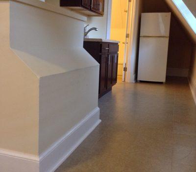 Corridor with Sink and Fridge