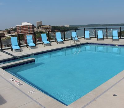 Clear Clean Blue Pool at Waterfront Apartments
