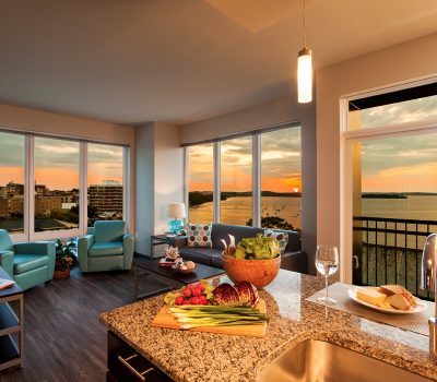 Beautiful Sunset View from Kitchen and Living Room
