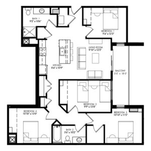Four Bedroom - Style F