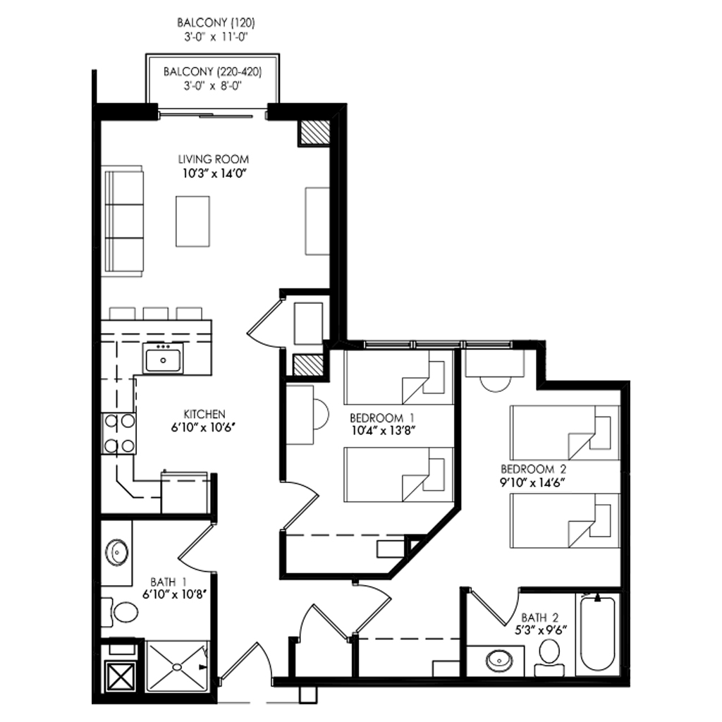 Two Bedroom - Style K