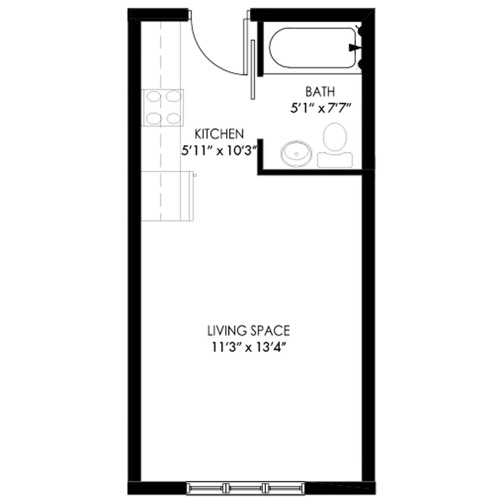 Studio style for rent in Madison Wisconsin