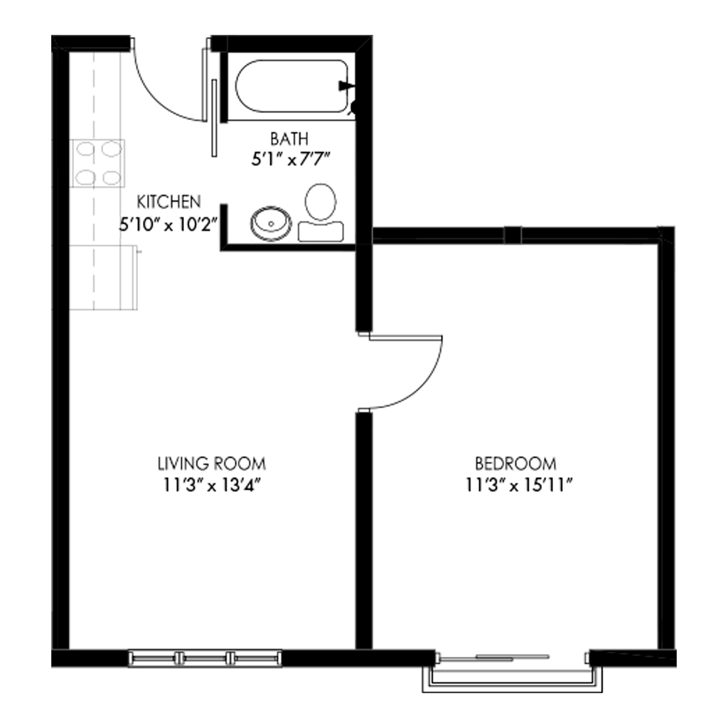 One Bedroom - Style F