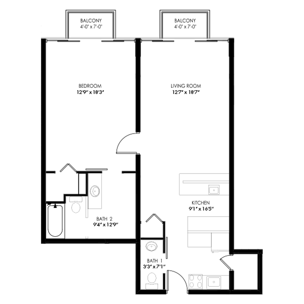 One Bedroom - Style G