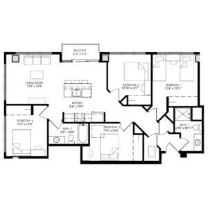 Four Bedroom - Style T